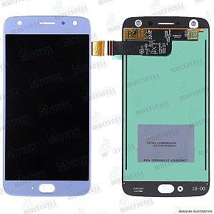 GABINETE FRONTAL DISPLAY LCD MODULO COMPLETO MOTOROLA XT1900 MOTO X4 AZUL 1ª LINHA (QUALIDADE AAA)