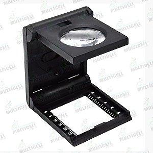 LUPA CONTA FIOS 25mm COM LED SLF-125 SOLVER
