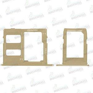 KIT GAVETA BANDEJA CHIP SIM CARD SAMSUNG J600 GALAXY J6 DOURADA QUALIDADE AAA