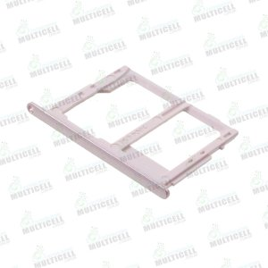 GAVETA DE CHIP SAMSUNG G610 G611 J7 PRIME G570 J5 PRIME ROSA ROSE (CHIP 2 + SIM CARD)