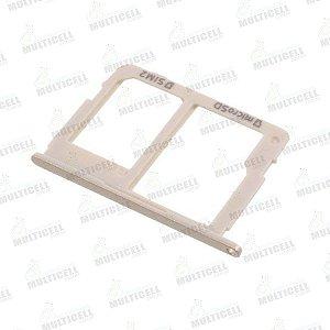 GAVETA DE CHIP SAMSUNG J810 GALAXY J8 DOURADA (CHIP 2 + SIM CARD) ORIGINAL