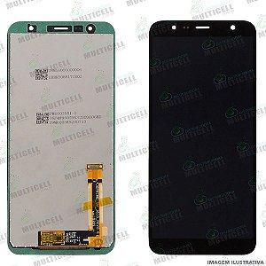 GABINETE FRONTAL DISPLAY LCD SAMSUNG J410 j4 CORE / J610 j6 PLUS / J415 J4 PLUS PRETO QUALIDADE ORIGINAL