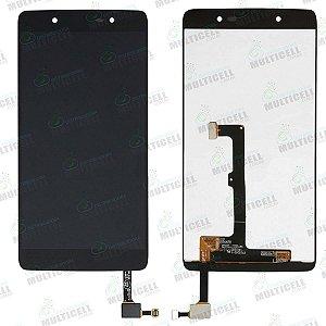 DISPLAY LCD GABINETE FRONTAL MODULO COMPLETO OT-6055 ALCATEL IDOL 4 PRETO 1ª LINHA QUALIDADE AAA