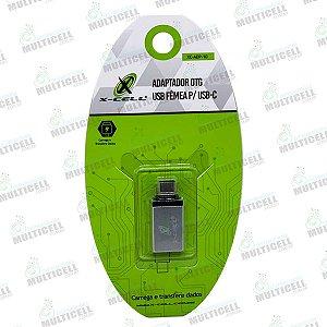 ADAPTADOR OTG USB FÊMEA P/ USB TIPO C X-CELL XC-APD-107