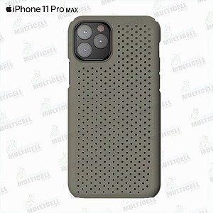 CAPA CASE SILICONE SLIM APLLE IPHONE 11 PRO MAX FUME TRANSPARENTE