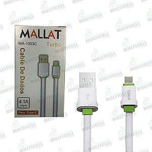 CABO MICRO USB MALLAT MA-1003C TIPO C ORIGINAL