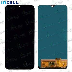 GABINETE FRONTAL DISPLAY LCD MODULO COMPLETO SAMSUNG A205 GALAXY A20 PRETO 1ªLINHA QUALIDADE INCELL