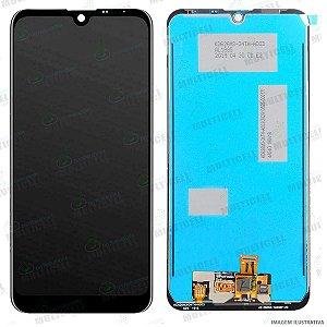 GABINETE FRONTAL DISPLAY LCD MODULO COMPLETO LG X520 X525 LG K12 MAX PRETO 1ªLINHA QUALIDADE AAA