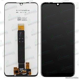 GABINETE FRONTAL DISPLAY LCD MODULO COMPLETO MOTOROLA XT2025 MOTO E6 PLUS PRETO 1ªLINHA QUALIDADE AAA