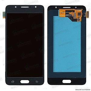 GABINETE FRONTAL DISPLAY LCD MODULO COMPLETO SAMSUNG J510 GALAXY J5 2016 PRETO (ORIGINAL IMPORTADO OLED)