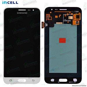 GABINETE FRONTAL DISPLAY LCD MODULO COMPLETO SAMSUNG J320 GALAXY J3 2016 BRANCO (1ªLINHA QUALIDADE INCELL)