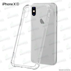 CAPA CASE SILICONE TPU TRANSPARENTE ANTI-SHOCK ANTI-IMPACTO IPHONE XS