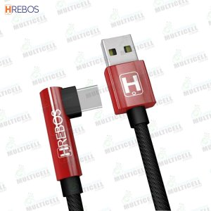 CABO USB TECIDO PLUG LATERAL 3.1A 1.2M TURBO HREBOS HS-13 TIPO C