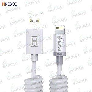 CABO ESPIRAL USB 3.1A 1.6M TURBO HREBOS HS-139 MICRO LIGHTNING IPHONE