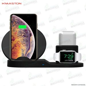 CARREGADOR SEM FIO WIRELESS CHARGER PAD H'MASTON WXC-01