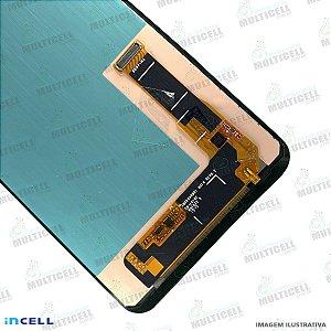 GABINETE FRONTAL DISPLAY LCD MODULO COMPLETO SAMSUNG J810 GALAXY J8 PRETO 1ªLINHA ( QUALIDADE INCELL)