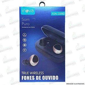 FONE DE OUVIDO STEREO SEM FIO TRUE WIRELESS INOVA FON-2309D