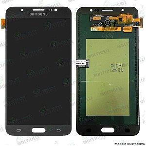 GABINETE FRONTAL DISPLAY LCD MODULO COMPLETO SAMSUNG J710 GALAXY J7 METAL PRETO 1ªLINHA (QUALIDADE INCELL TTC)