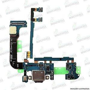 FLEX CONECTOR USB DOCK DE CARGA E MICROFONE SAMSUNG N930F ORIGINAL (VERSÃO F )