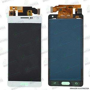 GABINETE FRONTAL DISPLAY LCD MODULO COMPLETO SAMSUNG A500 GALAXY A5 BRANCO 1ª LINHA (QUALIDADE TFT COM BRILHO AJUSTAVEL)