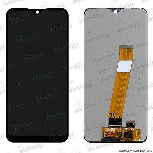 GABINETE FRONTAL DISPLAY LCD MODULO COMPLETO SAMSUNG A015 A015F GALAXY A01 1ªLINHA (QUALIDADE AAA)