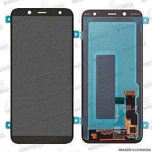 GABINETE FRONTAL DISPLAY LCD MODULO COMPLETO SAMSUNG A600 GALAXY A6 2018 ORIGINAL (QUALIDADE CHINA OLED)