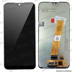 GABINETE FRONTAL DISPLAY LCD MODULO COMPLETO SAMSUNG A015 A015F GALAXY A01 ORIGINAL NACIONAL