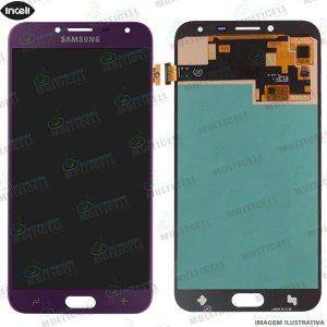 GABINETE FRONTAL DISPLAY LCD MODULO COMPLETO SAMSUNG J400 GALAXY J4 ROXO 1ªLINHA (QUALIDADE INCELL)