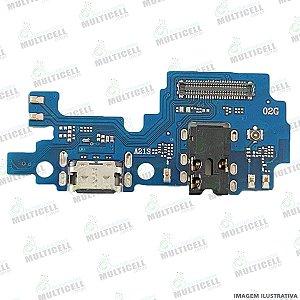 DOCK CONECTOR DE CARGA USB + MICROFONE SAMSUNG A217 GALAXY A21S 1ªLINHA (QUALIDADE AAA)