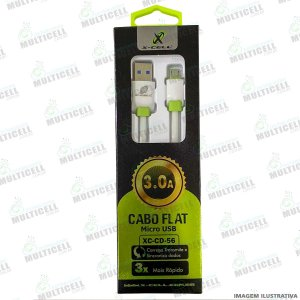CABO USB FLAT 3.0A X-CELL XC-CD-56 MICRO USB V8