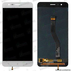 GABINETE FRONTAL LCD DISPLAY SCREEN MODULO COMPLETO ASUS ZE553KL ZENFONE 3 ZOOM BRANCO 1ªLINHA (QUALIDADE AAA)