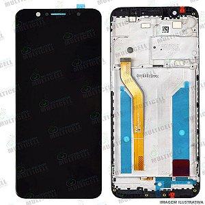 GABINETE FRONTAL DISPLAY LCD MODULO COMPLETO ASUS ZENFONE MAX PRO M1 ZB602KL ZB601KL PRETO ORIGINAL CHINA (C/ARO)