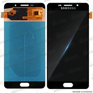GABINETE FRONTAL DISPLAY LCD MODULO COMPLETO SAMSUNG A710 GALAXY A7 (2016) 1ªLINHA (QUALIDADE INCELL)