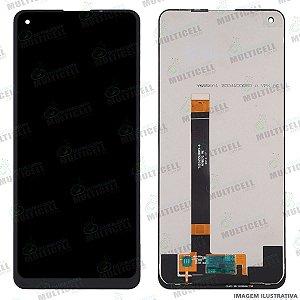 GABINETE FRONTAL DISPLAY LCD MODULO COMPLETO LG K510 K51s K51 S K-51s PRETO ORIGINAL CHINA (SEM ARO)