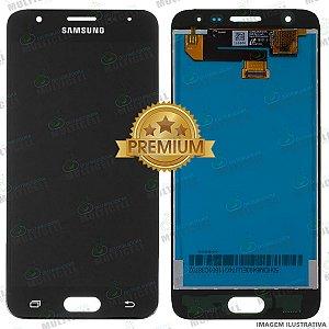 GABINETE FRONTAL DISPLAY LCD MODULO COMPLETO SAMSUNG G570 GALAXY J5 PRIME PRETO 1ªLINHA (QUALIDADE PREMIUM)