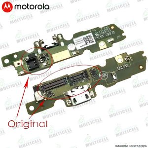 CONECTOR USB PLACA FLEX DOCK DE CARGA E MICROFONE MOTOROLA XT1671 XT1672 MOTO G5 (ORIGINAL)