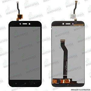 GABINETE FRONTAL DISPLAY LCD MODULO COMPLETO XIAOMI M1903C3GI REDMI GO PRETO 1ªLINHA (QUALIDADE AAA)