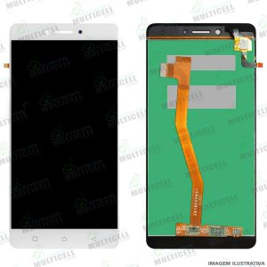GABINETE FRONTAL LCD DISPLAY MODULO COMPLETO K53B36 LENOVO VIBE K6 PLUS BRANCO 1ªLINHA QUALIDADE AAA