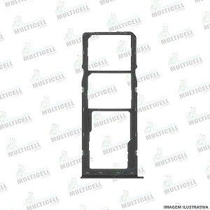 GAVETA DE CHIP BANDEIJA SIM CARD SAMSUNG A107 GALAXY A10s / A207 GALAXY 20s PRETA ORIGINAL