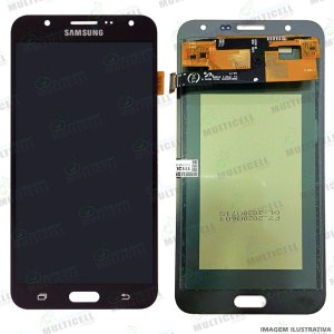 GABINETE FRONTAL DISPLAY LCD MODULO COMPLETO SAMSUNG J700 GALAXY J7 PRETO 1ªLINHA (QUALIDADE INCELL TTC)