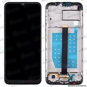 GABINETE FRONTAL DISPLAY LCD MODULO COMPLETO MOTOROLA XT2073 MOTO ONE FUSION PRETO (ORIGINAL COM ARO)