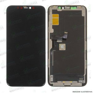 GABINETE FRONTAL DISPLAY LCD MODULO COMPLETO APLLE IPHONE 11 PRO 1ªLINHA (QUALIDADE INCELL)