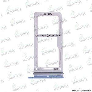 GAVETA DE CHIP SIM CARD SAMSUNG G950 S8 / G955 S8 PLUS AZUL CLARO ORIGINAL