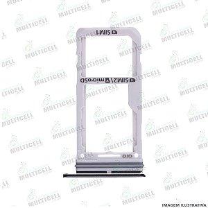 GAVETA DE CHIP SIM CARD SAMSUNG G950 S8 / G955 S8 PLUS PRETA ORIGINAL