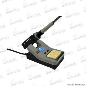 ESTAÇÃO DE SOLDA DIGITAL HIKARI HK-930 50W REGULÁVEL PROFISSIONAL COM SUPORTE EMBUTIDO 220V