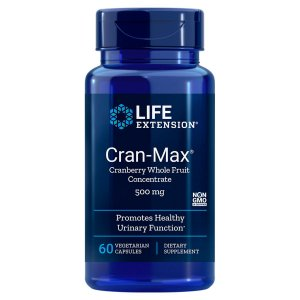 Life Extension Cran-max Cranberry 500mg 60 Veg Capsules