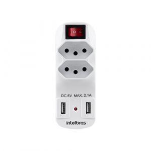 ADAPTADOR INTELBRAS EAC 1002 2 TOMADAS + USB
