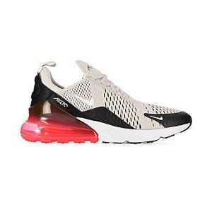 Tênis Nike Air Max 270 - Creme/Preto e Vermelho