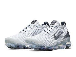 Tênis Nike Air Max Vapormax 3 - Branco e Cinza Claro