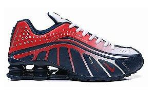 Tênis Nike Shox R4 - Azul e Vermelho